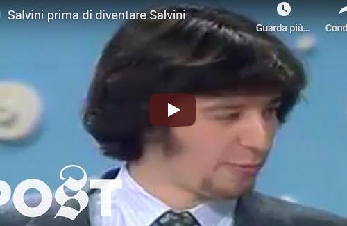 Salvini prima di diventare il caxxaro verde